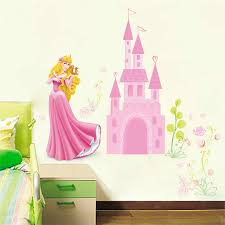 Aurora Princess Fantastic Castle Wall Stickers For Kids Room Home Decorations Diy Anime Mural Art Cartoon Pvc Wall Decal Wall Stickers Aliexpress