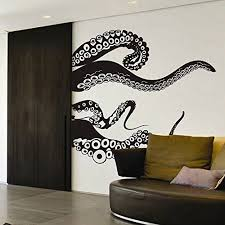 Amazon Com Tentacles Wall Decal Kraken Octopus Tentacles Wall Sticker Sea Animal Wall Decal Mural H Wall Stickers Bedroom Animal Wall Decals Octopus Wall Art