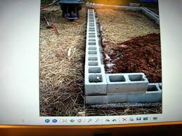raised bed garden using cinder blocks