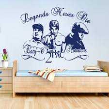 2pac Tupac Eazy E Notorious B I G Rappers Hip Hop Legends Diy Wall Art Sticker Decal Music Star Vinyl Home Decor Wall Stickers Aliexpress