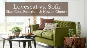 loveseat vs sofa size cost function