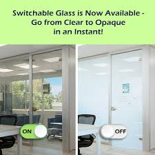 switchable glass walls are now