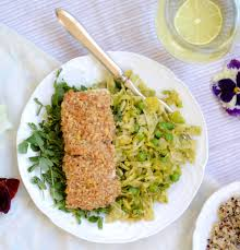 Walnut Crusted Halibut with Spring ...