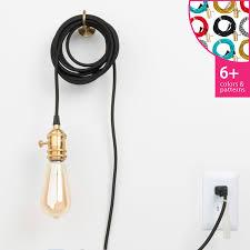 brass plug in pendant light plug in