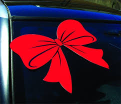 Holiday Car Bow Decal Golden Openings
