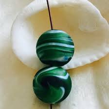 sea glass beads beach glass bead