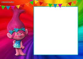 Free Printable Trolls Invitation Template Fiesta Trolls