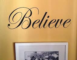 Believe Word Decals Vinyl Wall Decals Wall Decal Wall Decals Word Decals Believe Word Art Decal Art Sapce Wall Art Belie Vinyl Wall Decals Custom Sign Word Art