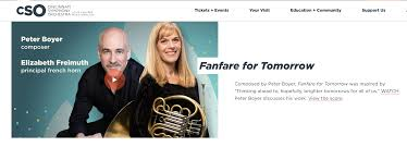 Cincinnati Symphony and Pops commission Boyer for Fanfare Project – Peter  Boyer: Propulsive Music
