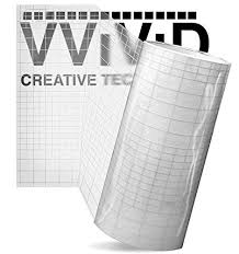 12in X 7ft Vvivid Vinyl Transfer Tape Roll Clear With Blue Alignment Grid Application Tape For Signs Crafts Decals Medium Tack Arts Crafts Sewing Scrapbooking