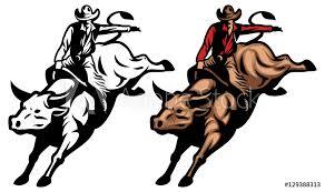 Bull Riding Sticker Wall Decals Wallsheaven Bazzier