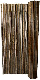 Backyard X Scapes Black Rolled Bamboo Fence 1in D X 3ft H X 8ft L Amazon Co Uk Garden Outdoors