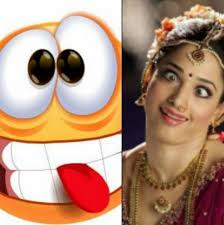actresses and funny smiley emoticons