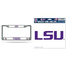 Lsu Tigers Official Ncaa License Plate Frame Chrome And Automotive Car Decal 5x6 5 Bundle 2 Items Walmart Com Walmart Com
