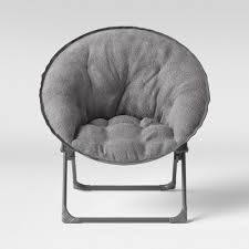 Fuzzy Kids Saucer Chair Gray Pillowfort Target