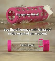 shatterproof glass water bottle