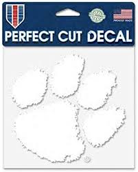 Amazon Com Wincraft Ncaa Clemson University Tigers 6 X 6 Inch White Decal Sports Outdoors