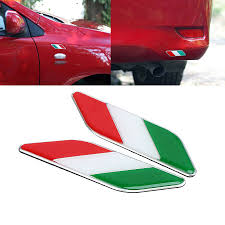 2x Aluminum 3d Metal Italy Italian Flag Car Sticker Emblem Badge Decal Decorate Ebay