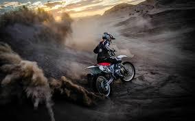 wallpaper motorcycle race sports dust
