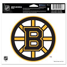 Boston Bruins Official Nhl 4 Inch X 6 Inch Car Window Cling Decal By Wincraft Walmart Com Walmart Com