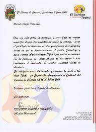 Modelo Carta Invitacion Escribimosasi