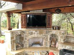 rustic outdoor tv cabinet