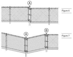 A Drawing Shows How To Install The Chain Link Fence On Uneven Ground Chain Link Fence Installation Chain Link Fence Chain Fence