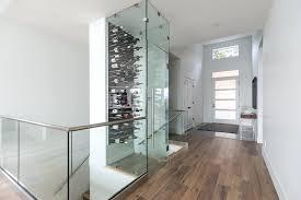 glass wine cellar design