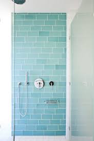 clear glass tiles modern bathroom