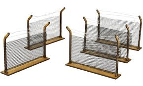 The Walking Dead All Out War Chain Link Fences Mdf Scenery Kit Table Top Miniatures Miniature Market