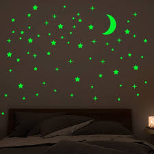Big Sale 47f4 Glow In The Dark Vinyl Wall Stickers Luminous Star Moon Diy Starry Sky For Baby Kids Bedroom Living Room Wall Decals Home Decor Cicig Co