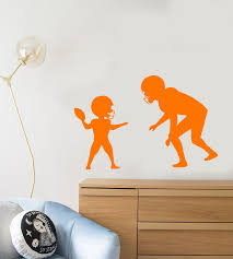 Vinyl Wall Decal American Football Sport Player Father And Son Sticker Wallstickers4you