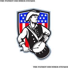 The Patriot Drummer Die Cut Printed Vinyl Stickers Etsy