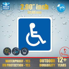 Handicap Accessibility Icon 2 Logo Disabled Parking Symbol Vinyl Decal Sticker Ebay