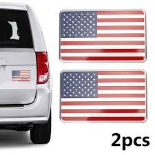 3d Us American Flag Car Metal Sticker Decal Badge Emblem Adhesive Decor Wish