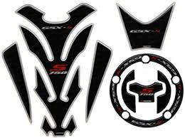 Amazon Com Black 3d Tank Gas Tank Pad Filler Cover Cap Sticker Decals Set For Suzuki Gsx S Gsxr 750 Car Electronics