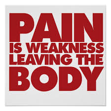 Pain Is Weakness Leaving The Body Poster Zazzle Com