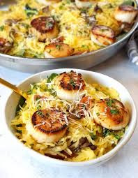 Low Carb Seared Scallops And Spaghetti ...