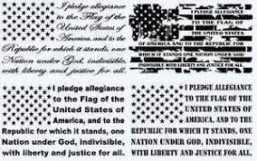 14 X 24 The Pledge Of Allegiance American Flag Decal Car Truck Window Sticker Ebay
