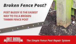 Fence Post Repair Fix Broken Timber Fence Posts Quick Easy Fence Post Repair Fence Post Fence