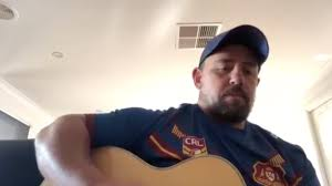 "Watch: Former NRL player Adam Perry's song about ""no footy on the TV"" 