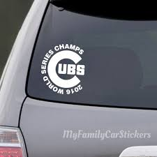 Cubs Car Decal Cubs Car Sticker Custom Etsy