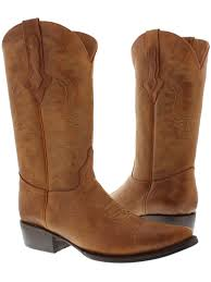 genuine leather rodeo cowboy boots