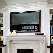 how to hide a flat screen tv above a