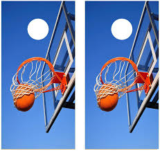 Amazon Com Basketball Hoop Cornhole Laminated Decal Wrap Set Decals Board Boards Vinyl Sticker Stickers Bean Bag Game Wraps Vinyl Graphic Image Corn Hole Laminated Sports Outdoors