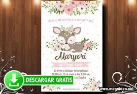 Invitacion Ciervo Del Bosque Encantado Mega Idea