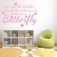 Butterfly Grow Quote Wall Decal Wall Decal World