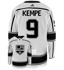 Adrian Kempe Los Angeles Kings Adidas Authentic Away NHL Hockey Jersey