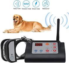 Amazon Com Electric Dog Fence Wireless Pet Containment System Safe Easy To Install Pet Fence Beep Shock Dog Fence Adjustable Control Range Distance Display Rechargeable Waterproof Collars For 2 Dogs