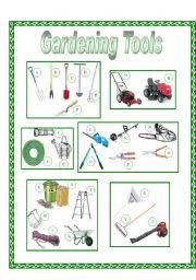 garden tools picture dictionary full